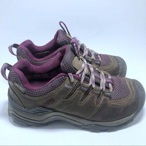 Keen Brown & Purple Hiking Boots Waterproof